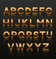 Decorative golden alphabet vector image vector image
