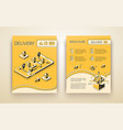 delivery service booklet isometric template vector image