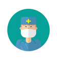 doctor icons flat designmedical amp health vector image
