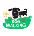 dog walking creative banner pet service concept vector image vector image