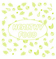 eat healthy poster or banner with hand-lettering vector image