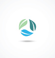 Ecology icon with leafs vector image vector image