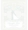 elegant wedding invitation with wedding couple vector image vector image