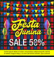 festa junina sale background vector image vector image
