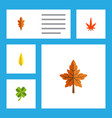 flat icon maple set of leafage alder linden and vector image vector image