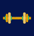 flat shading style icon dumbbell vector image vector image
