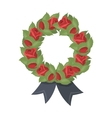 Funeral wreath icon in cartoon style isolated on vector image