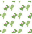geometrical green cacti seamless pattern vector image