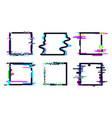 glitch square frame square template shape vector image