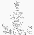hand drawn christmas greeting card abstract vector image