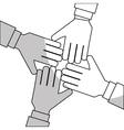 hands and teamwork design vector image