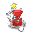 have an idea tea turkish on the with mascot vector image vector image