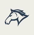 horse logo design icon vector image vector image