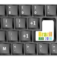 laptop computer wireless keyboard top view with vector image