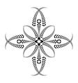 Laurel wreath tattoo Cross Stylized black vector image