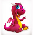 little red dragon cartoon character funny animal vector image vector image