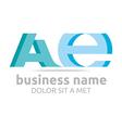 Logo Letter A Combination E Alphabet Lettering vector image vector image