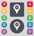 Minus Map pointer GPS location icon sign A set of vector image vector image
