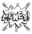money word comic book coloring vector image