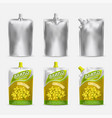 mustard package mockup set realistic vector image vector image