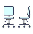 office chairtable lamp desk reading icon flat vector image vector image