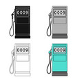 petrol filling stationoil single icon in cartoon vector image vector image