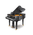 piano isolated vector image vector image