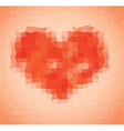 Pixelated heart vector image vector image