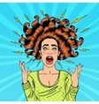 Pop Art Aggressive Furious Screaming Woman vector image vector image