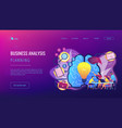 project management concept landing page vector image