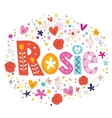 Rosie female name decorative lettering type design vector image vector image