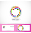 Rotation circle corporate logo vector image vector image