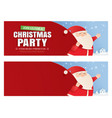 santa claus and a huge bag gifts with vector image vector image