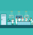 scientist male and female making research and vector image vector image
