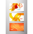 Set of abstract colorful gift cards vector image vector image
