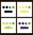 set of abstract infographics number options vector image vector image