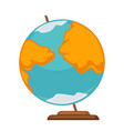 small simple globe vector image vector image