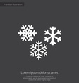 snowflakes premium icon white on dark background vector image vector image