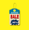 summer sale tags up to 90 design vector image