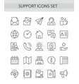 support service thin line icons set outline vector image