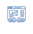 user reviews line icon concept user reviews flat vector image