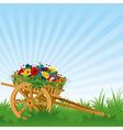 vintage wooden cart detailed vector illustration vector image vector image