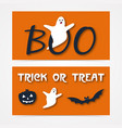 website spooky header or banner set with vector image vector image