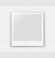 white blank frame isolated on transparent vector image vector image