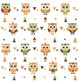 Background with funny owls and owlets vector image