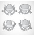 Design elements set of shields with Laurel vector image