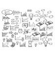 doodle infographic diagram finance graph vector image