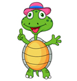Cute turtle with thumb up vector image