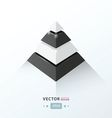 3D pyramid business Infographic black and white co vector image