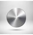Abstract Circle Button Template vector image vector image